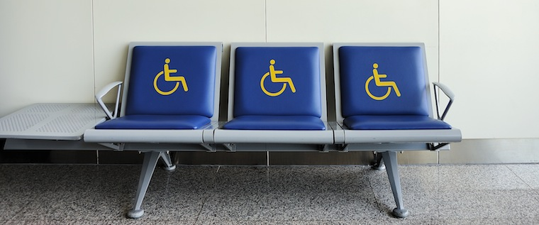 Seats for the disabled are just one of many of Stansted Airport disabled facilities