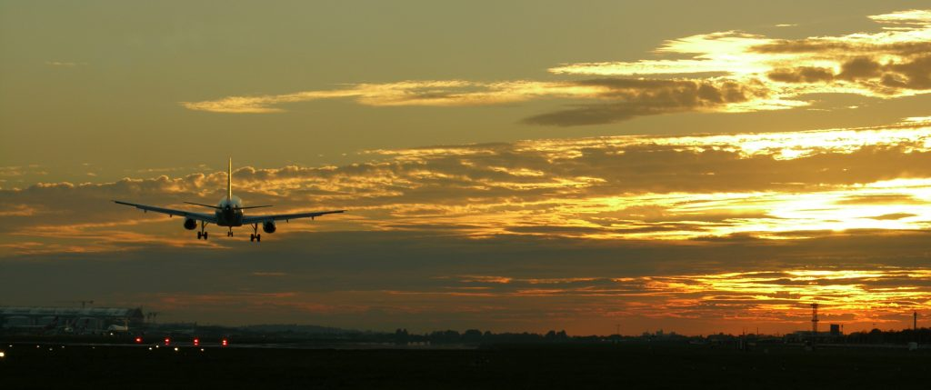 Living near Stansted airport allows you to see planes taking off and landing.