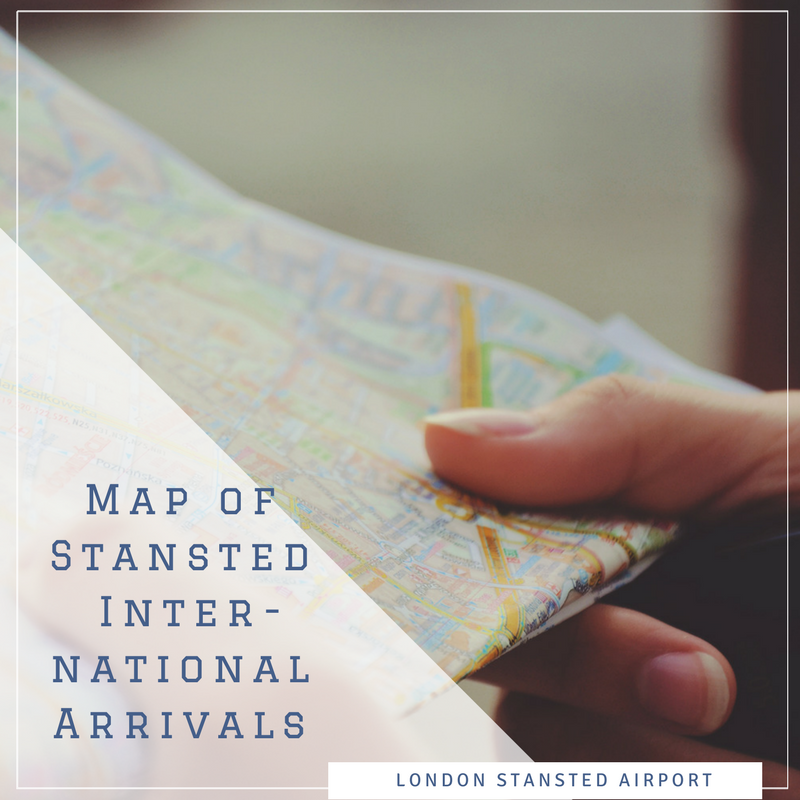 Map of Stansted Airport's International Arrivals