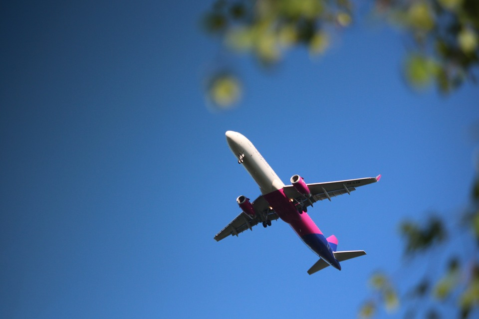 Plane from Stansted in the spring sunshine