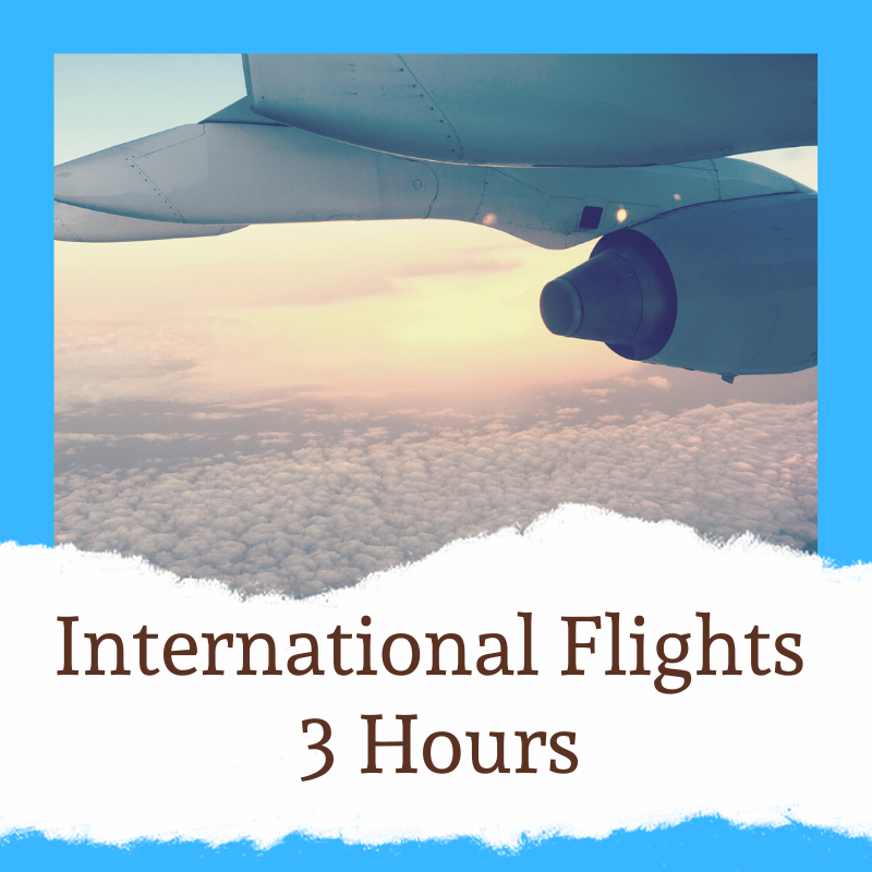 Check in at least 3 hours prior to leaving on an international flight from Stansted Airport