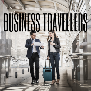 Business Travellers at Stansted Airport