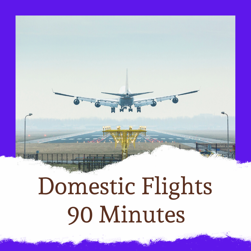 Check in at least 90 minutes prior to leaving on a domestic flight from Stansted Airport