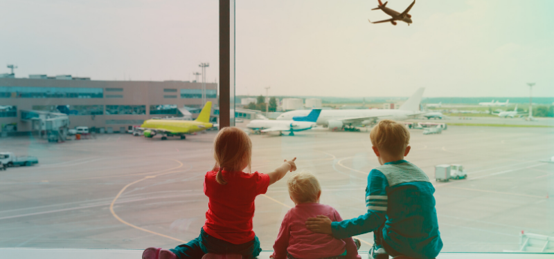 Children Plane Watching at Stansted