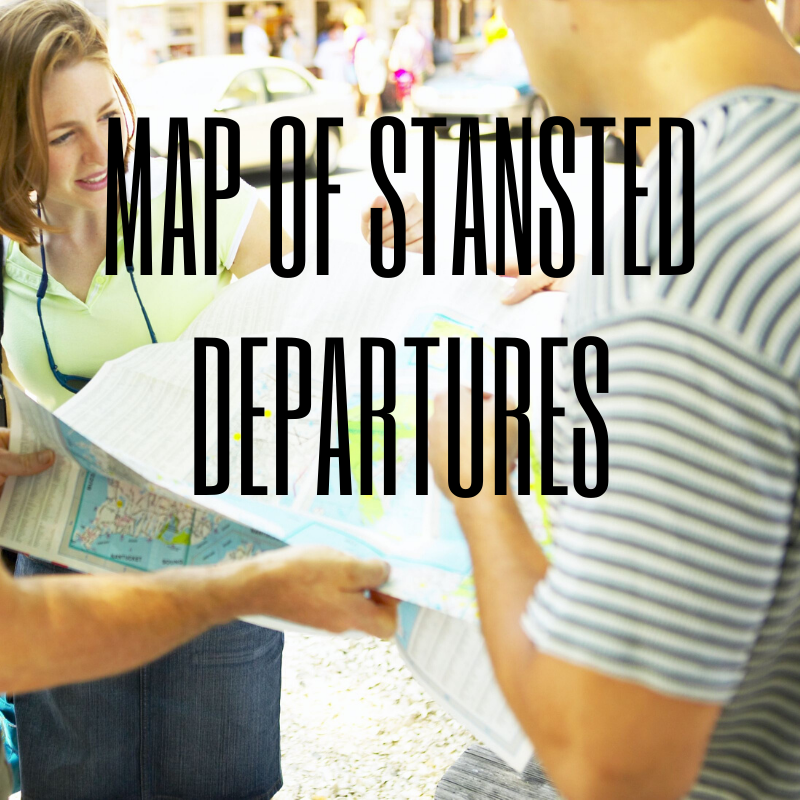 Discover the map to the Departures Lounge at Stansted
