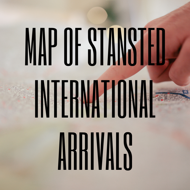 Discover the map to the Arrivals Lounge at Stansted