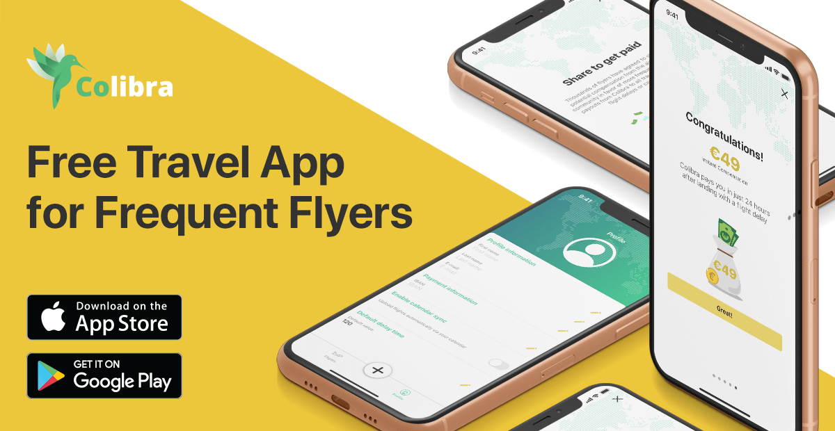 Colibra is a free app for delayed flight compensation